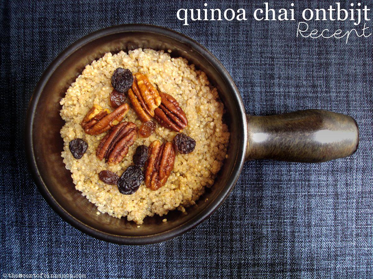 quinoa chai ontbijt