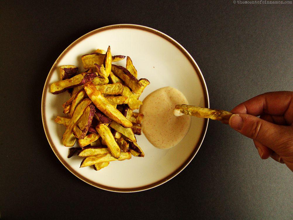friet zoete aardappels