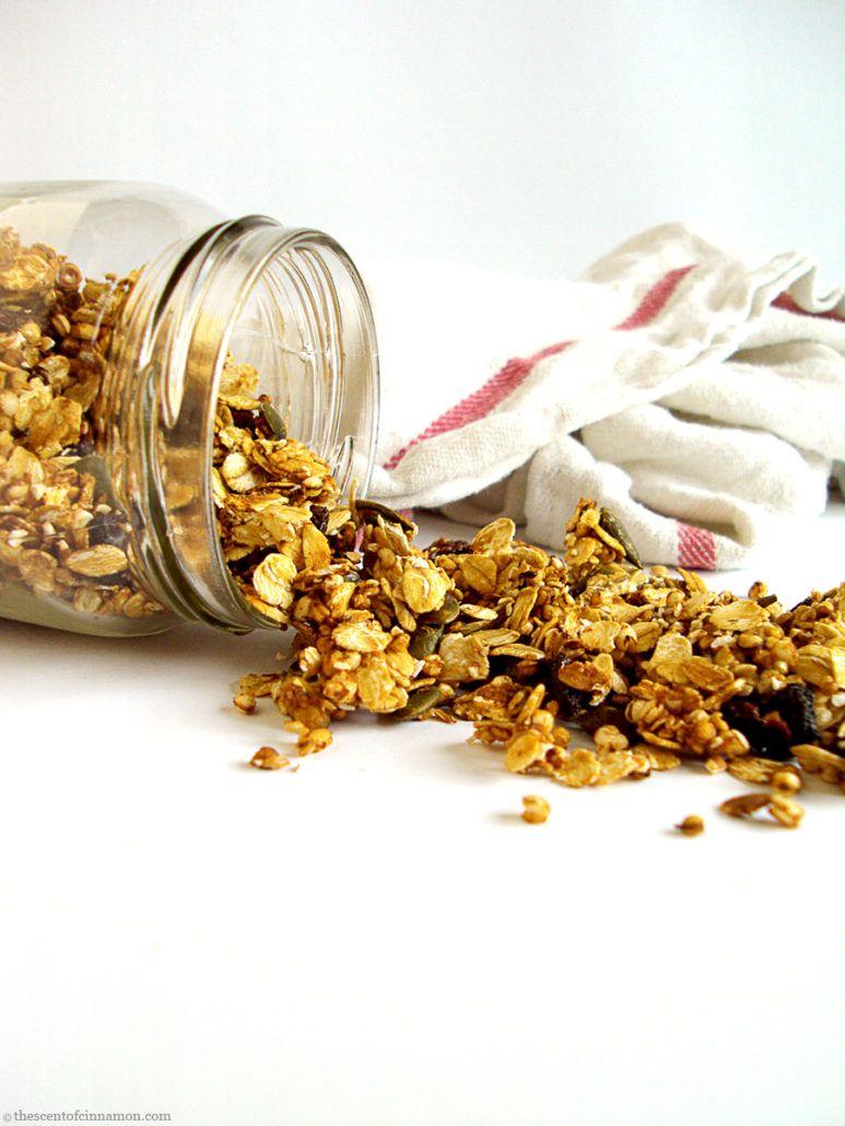 quinoa granola maken