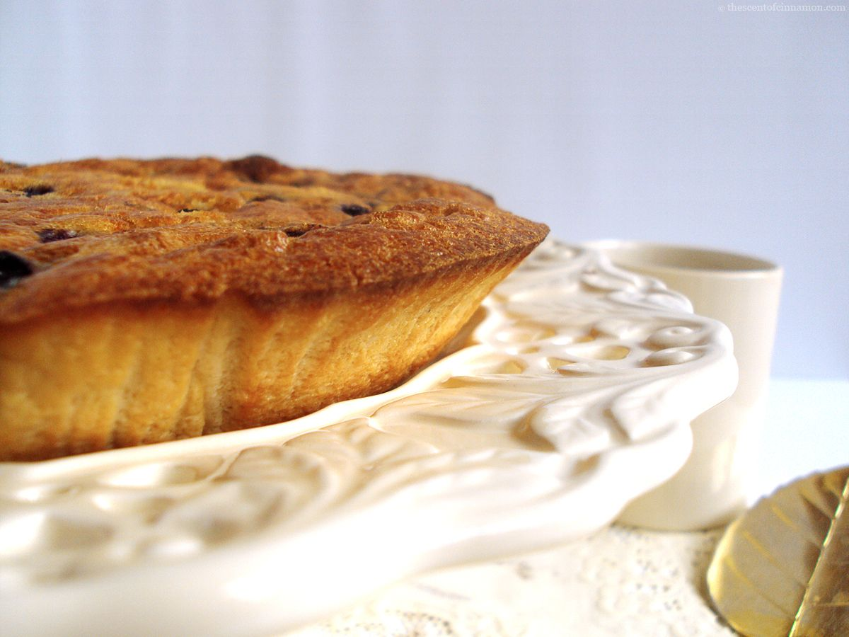 glutenvrije cake blauwe bessen